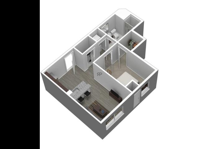 1 Bedroom Corner // View Floor Plan