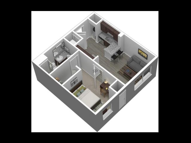 1 Bedroom Standard // View Floor Plan