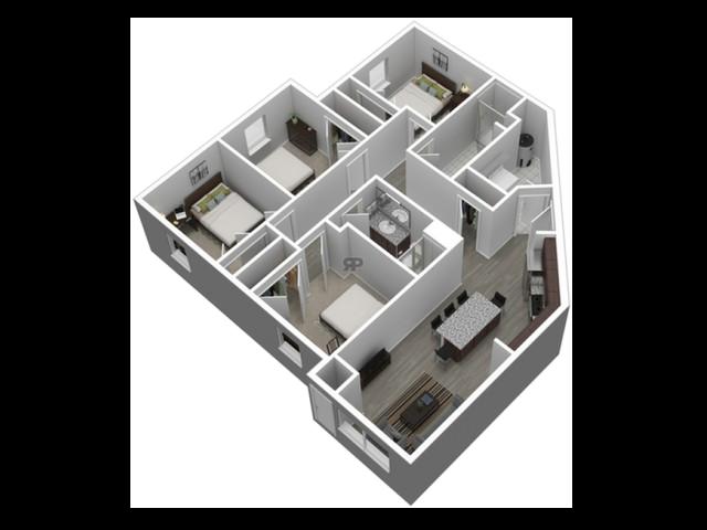 4 Bedroom Corner // View Floor Plan