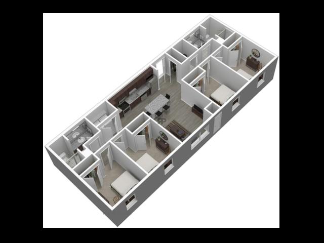 4 Bedroom Standard // View Floor Plan
